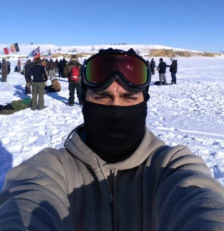 Milwaukee native Daniel Guzman is continuing to protest on the front lines at Standing Rock. Photo courtesy of Daniel Guzman.