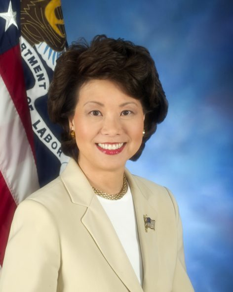 Elaine Chao. Photo from the U.S. federal government. Photo is in the Public Domain.
