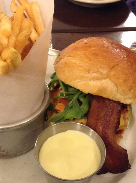 Sandwich au Saumon. Photo by Cari Taylor-Carlson.