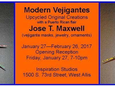 "José T. Pischke-Maxwell to exhibit ""Modern Vejigantes"" at Inspiration Studios"
