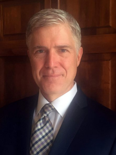 Neil Gorsuch. Photo from the 10th U.S. Circuit Court of Appeals shows Judge Neil Gorsuch. Photo is in the Public Domain.