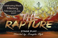 """""""The Rapture"""" Directed by Evaughn High and Music Director Jermaine Rideout Comes to the Marcus Center's Wilson Theater at Vogel Hall February 25-26, 2017"""