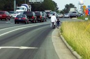 Each year, thousands of Americans are killed while walking on dangerous roads. Photo from Transportation for America.