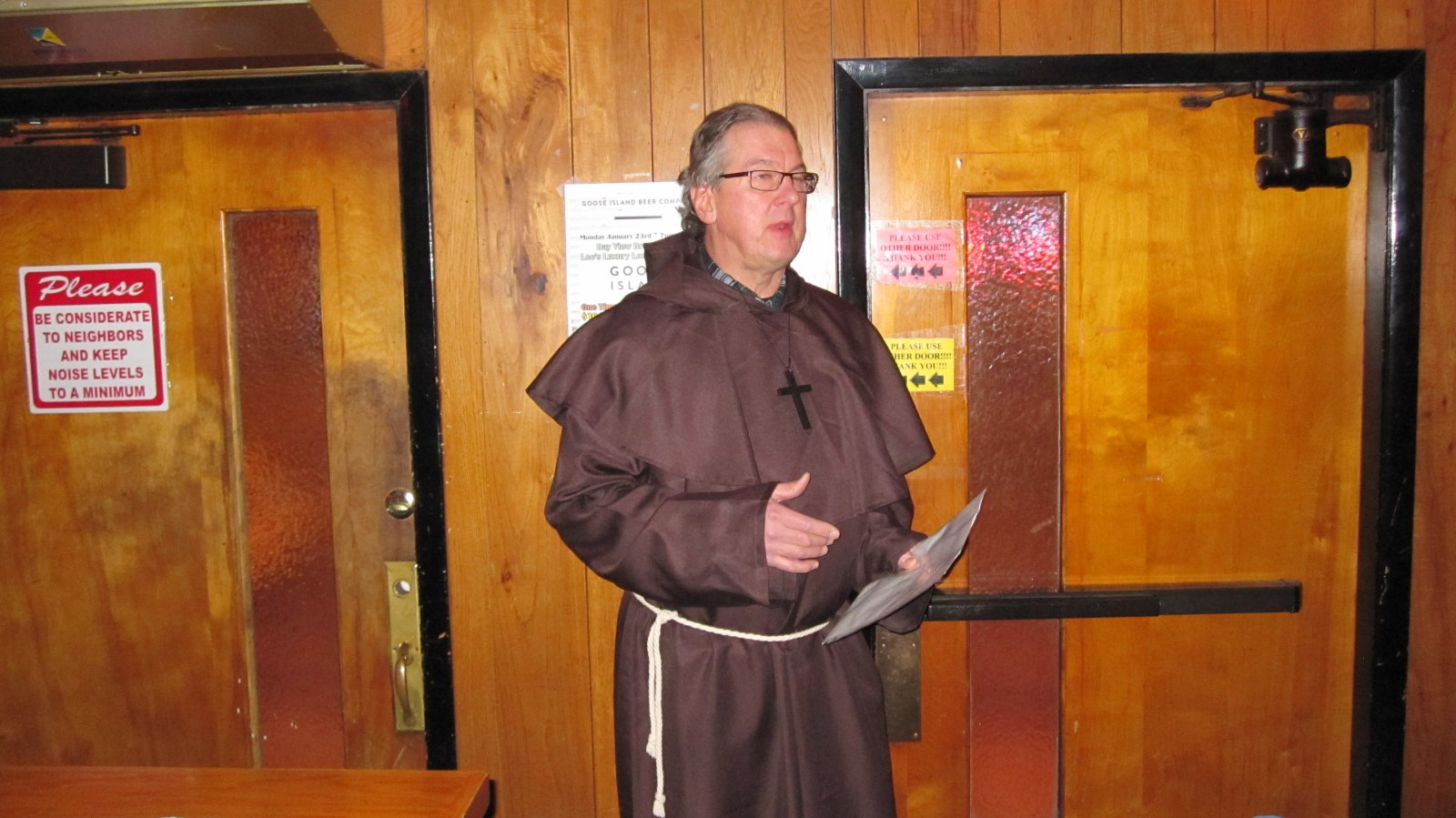 Jim Klisch performing the Blessing of the Bar. Photo by Michael Horne.