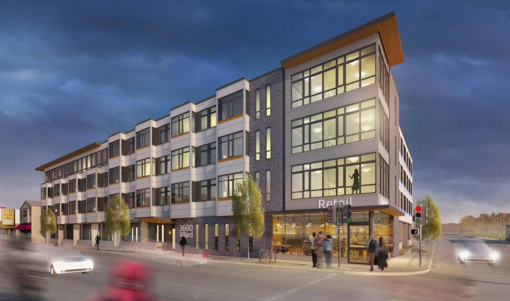 3600@Villard. Rendering by Korb + Associates Architects.