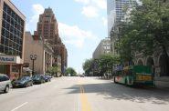 Looking east down E. Wisconsin Avenue from Jefferson St. Photo by Jeramey Jannene.