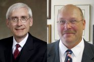Tony Evers and Lowell Holtz.