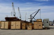 Mining Equipment staged to go out to The Netherlands, April 2015. Photo by Peter Hirthe.
