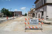Looking north up S. 5th St. during road reconstruction. Photo by Jeramey Jannene.