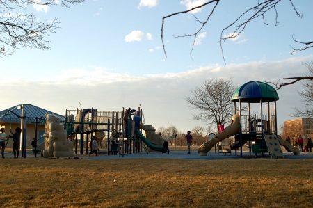Johnsons Park is the largest green space in the neighborhood, with 11.5 acres. Photo by Camille Paul.