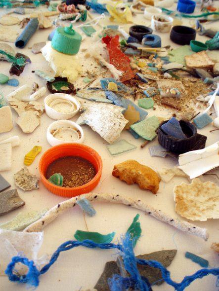 Plastics pollution. Photo from the NOAA Marine Debris Program.