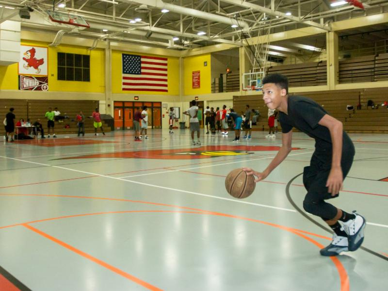 The Midnight Basketball League. Photo courtesy of MPS.
