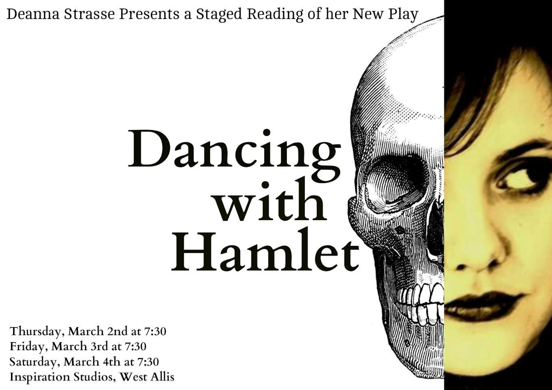 Off-Book Players Present DANCING WITH HAMLET by Deanna Strasse