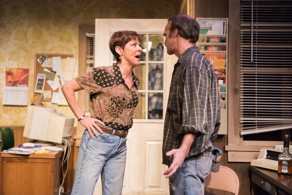 Mary MacDonald Kerr as QZ, James Ridge as Bryan. Photo by Paul Ruffolo.