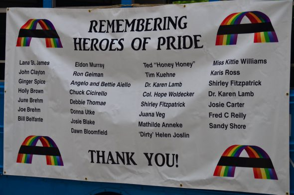 Remembering Heros of Pride. Photo by Michail Takach.