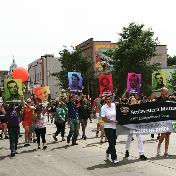 Milwaukee Pride Parade. Photo by Michail Takach.