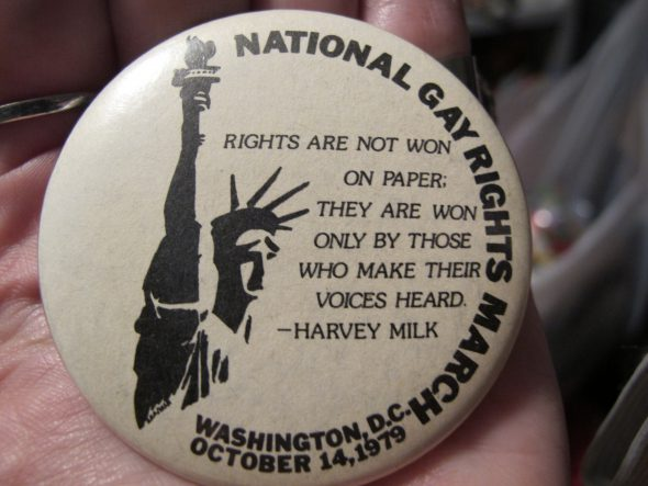 National March on Washington for Lesbian and Gay Rights Button.