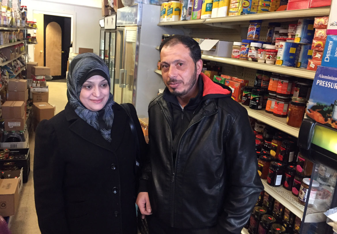 Syrian refugees Rula and Abdul arrived in Madison, Wis., on Jan. 20, 2017, with their daughters, ages 5 and 8. A week later, President Donald Trump halted any additional arrivals of refugees from the war-torn country indefinitely. They asked that their last names not be used for their own safety. Photo by Dee J. Hall of the Wisconsin Center for Investigative Journalism.