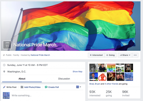 National Pride March Facebook Page.
