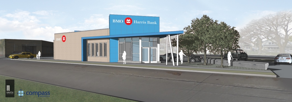 BMO Harris Bank Sherman Park Branch Rendering.
