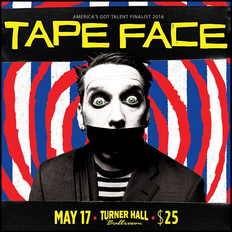 Tape Face. His mime-esk comedy and bizarre act left America's television audience bursting with laughter.