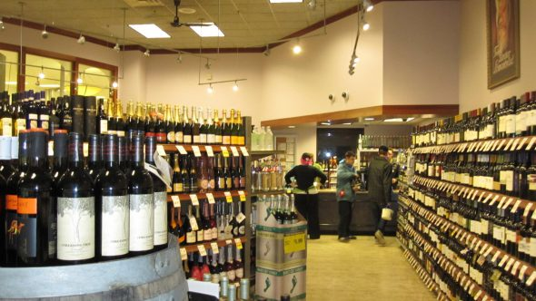 Liquor department inside Metro Market. Photo by Michael Horne.