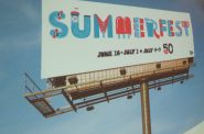 Summerfest banner. Photo by Michael Horne.
