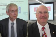 Tony Evers and Lowell Holtz. Photos by Michael Horne.