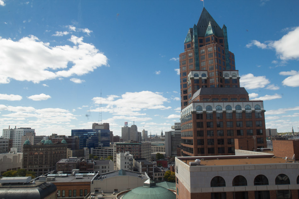 Milwaukee Center from City Hall. File photo by Erik Ljung.