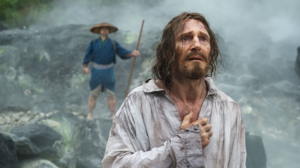 "Liam Neeson in ""Silence."""
