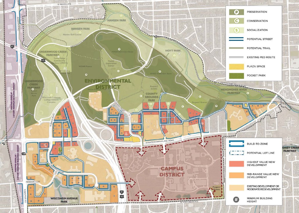 Master Plan for Milwaukee County Grounds.
