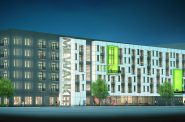 Bucks Apartments Rendering. Rendering by Engberg Anderson.