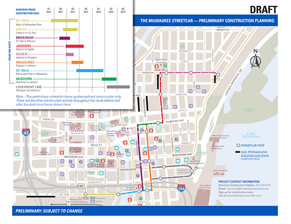 Streetcar Construction Timeline
