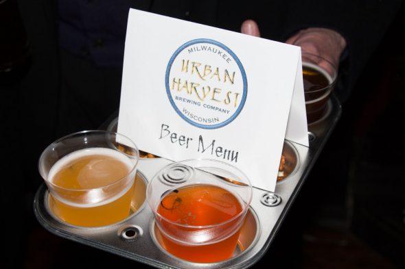 Beer samples. Photo by Justin Gordon.