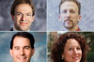 Chris Abele, Theodore Lipscomb, Sr., Scott Walker and Marina Dimitrijevic.