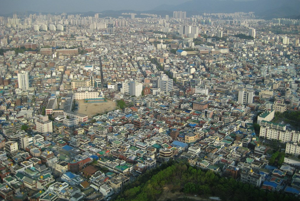 View from Woobang Tower (aka Daegu Tower). Photo by ~Mers.