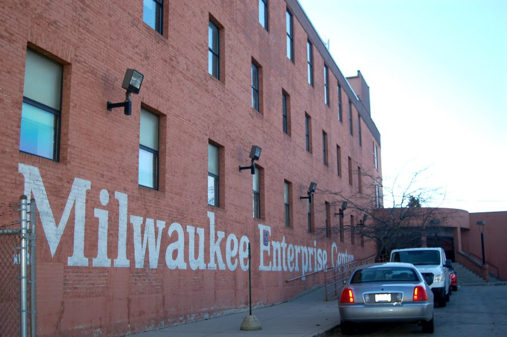 The Welford Sanders Historic Lofts are being constructed at the current site of the Milwaukee Enterprise Center, 2821 N. 4th St. Photo by Edgar Mendez.