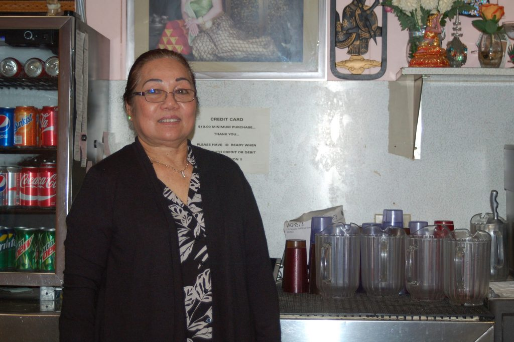 """Thomg Ksoun, """"T.K.,"""" opened her restaurant, Vientiane, in 2001. Photo by Camille Paul."""