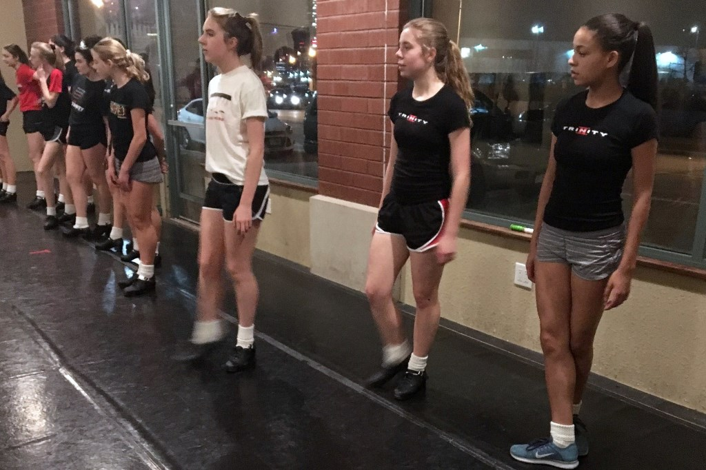 Milwaukee's Trinity Irish Dancers prepare for the St. Patrick's Day festivities. Photo by Maggie Glynn.