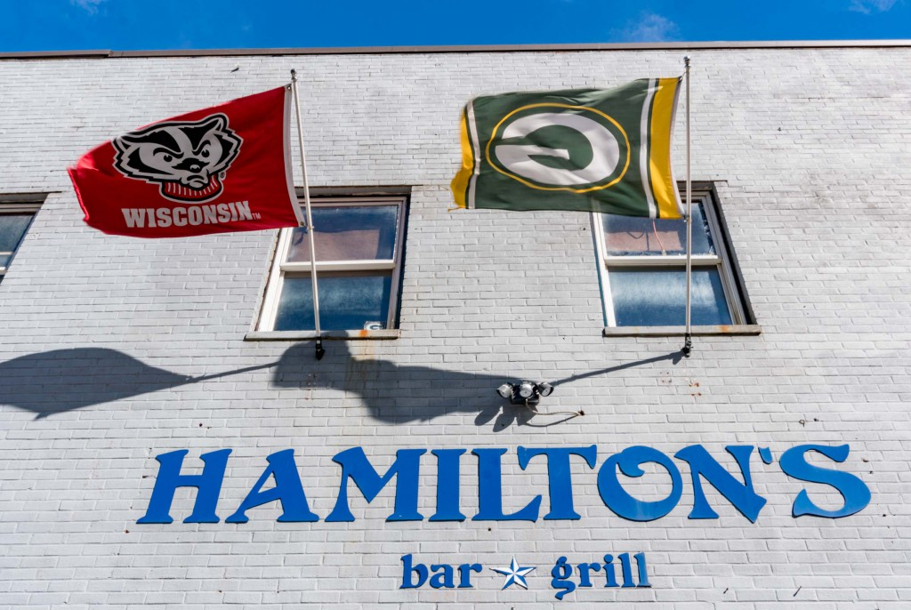 We ended our big day at a fitting location, Hamilton's Bar and Grill, a Capitol Hill area Packer bar. The Packer Nation is everywhere!