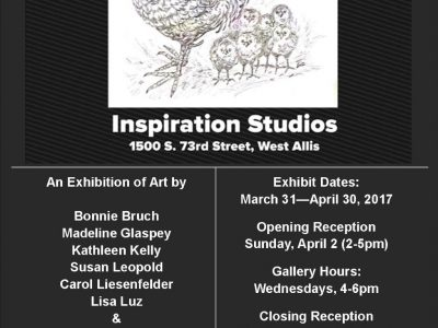 Six Chicks & A Rooster–Collaborative Exhibit to Open at Inspiration Studios
