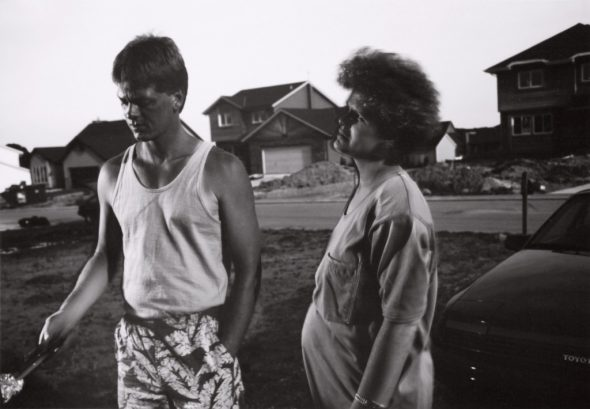 Tom Bamberger, Grilling in the Suburbs, gelatin-silver print, 1991. Photo courtesy of MOWA.