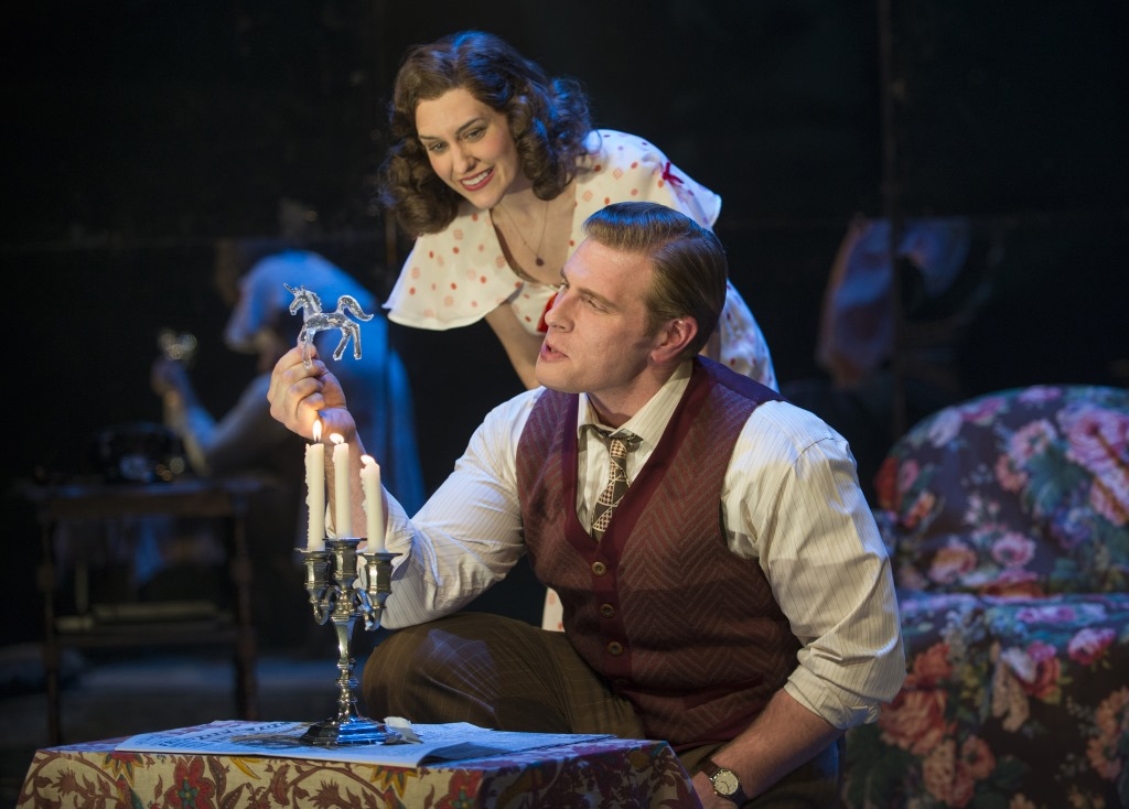 "Milwaukee Repertory Theater presents ""The Glass Menagerie"" in the Quadracci Powerhouse March 7 – April 9, 2017. Featuring Kelsey Brennan, Brandon Dahlquist. Photo by Michael Brosilow."