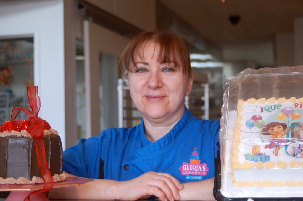 Gloria De Angelo, owner of Gloria's Cakes, said having the Domes nearby has benefited her shop. (Photo by Edgar Mendez)