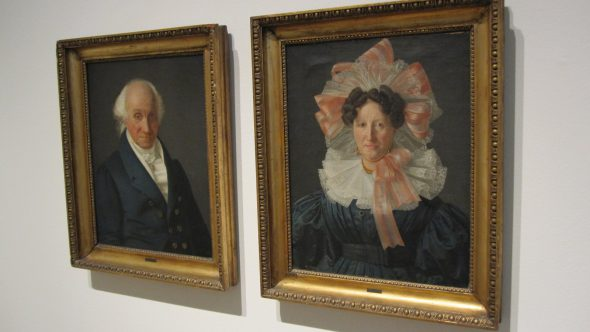 Dual portraits. Paintings by Frederick Moller. Photo by Michael Horne.