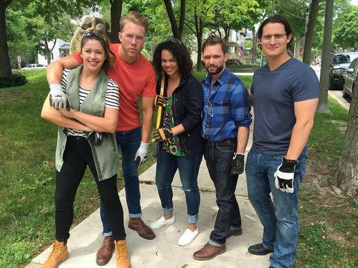 Jenni Radosevich, Benji Bernhard, Mallory Davis, Alan Damato and Mike Styke. Photo courtesy Jenni Radosevich.