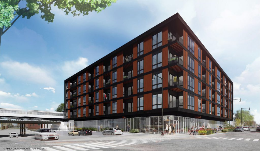 Groundbreaking of The Quin, a 70-unit apartment development in Milwaukee's Walker's Point neighborhood