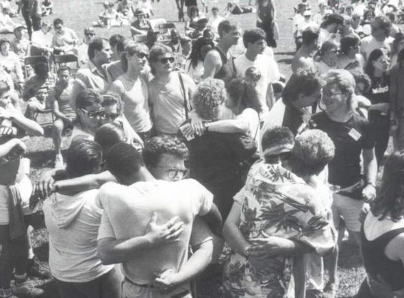 PrideFest 1992. Photo from the Milwaukee LGBT History Project.