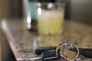 Car keys and drinks. Photo is in the Public Domain.