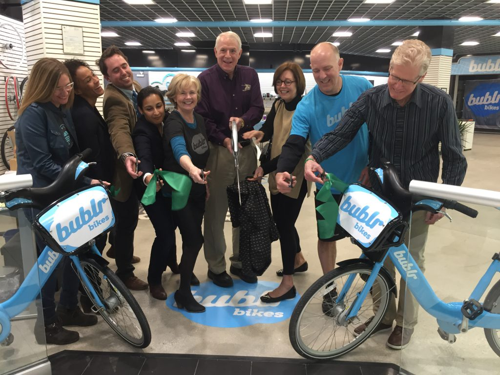 Ribbon cutting at the new Bublr Offices
